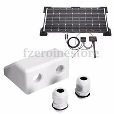 White Roof Solar Panel Cable Entry Gland Double Cable Gland Box For Caravan Boat