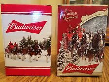 2016 2015 Budweiser Bud Holiday Steins Annual Clydesdale Christmas Beer Busch AB