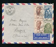 FRENCH GUINEA MAMOU MULTI FRANKING AIRMAIL 1954
