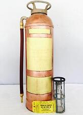 Vintage Kontrol Stempel Copper Soda Acid Type Fire Extinguisher Industrial Decor