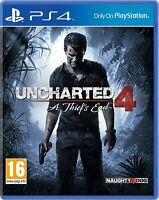 Uncharted 4: A Thief's End (PS4)  - PRISTINE - Super FAST & QUICK Delivery Free