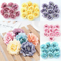 10pcs/set Artificial Peony Flower Heads Fake Bouquet Floral DIY Wedding Decor