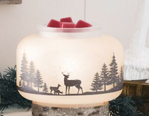 Scentsy - Wildlife Glass Shade & Dish For Wax Warmer Nature Theme - Retired Bulb