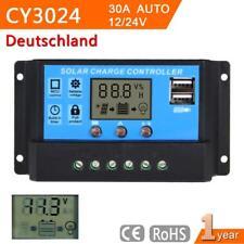 30A 12V-24V LCD Display Solar Laderegler Solarregler Controller Regulator HS