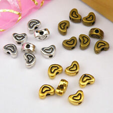 25Pcs Tibetan Silver,Antiqued Gold,Bronze Tiny Heart Spacer Beads DIY M1158