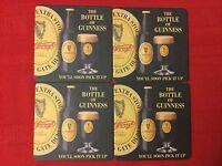 """Set Of 4 Beer Coaster GUINNESS  - 3 1/2"""" """"the Bottle Of Guinness"""""""