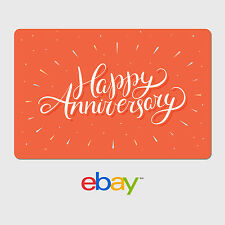 eBay Digital Gift Card - Happy Anniversary Orange -  Email delivery