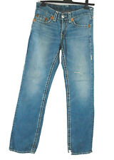True Religion Jeans W 32 L 34 Herren Bobby Super T blau 100% Baumwolle wie neu