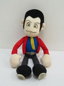 """Lupin The Third Banpresto 1996 Suction Cup Plush 11"""" Toy Doll Japan"""
