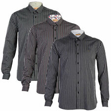 Cotton Collared No Striped Casual Shirts & Tops for Men