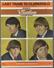 1966 MONKEES Last Train to Clarksville SHEET MUSIC Boyce and Hart