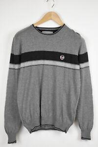SERGIO TACCHINI Men's MEDIUM Cashmere Blend Melange Crew Sweater 33673_GS