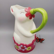 Department 56 Bunny Rabbit Pitcher Ceramic