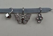 FOSSIL MICRO CHARMS S/3 BUTTERFLY GLITZ Stainless Steel Crystal #248