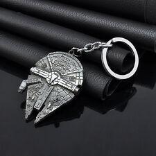 New Fashion Star Millennium Falcon Metal Key Ring Keychain Gift Silver for Boy