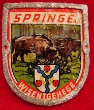 Springe Wisentgehege used badge mount stocknagel hiking medallion G4953