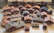 Schweiz Dorf Stadt Haus Häuser Bahnhof Kirche H0 Modellbau beleuchtet Holz Schie