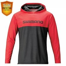 Shimano WJ-044T Fishing Hoodie Sun Protection Print Bright Red Fast Ship Japan