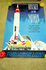 "DISNEY DISNEYLAND TOMORROWLAND ATTRACTION POSTER ""ROCKET TO THE MOON"" MOONLINER"