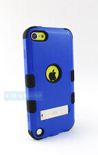 APPLE IPOD TOUCH 5 6 5TH 6TH GEN BLUE BLACK TUFF CASE HYBRID STAND COVER