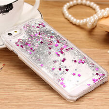 New For Apple iPhone 5/5S Glitter Quicksand Movable Solid Star Back Case Cover