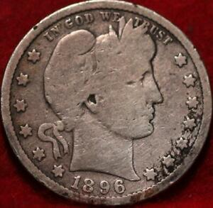 1896-S San Francisco Mint Silver Barber Quarter