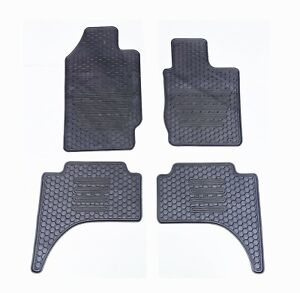 Rugged Rubber Floor Mats for Mitsubishi Triton 2006-21 MQ MR MN ML OEM shape