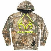 Realtree Xtra Camo Men's Hoodie, Camouflage Sweatshirt Green Antler Logo