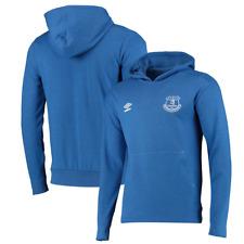 Everton FC Umbro Men's Hoodie Football Overhead Hoodie - Blue - New