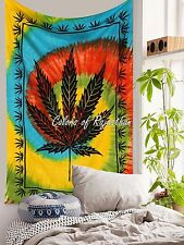 Marijuana Leaf Cannabis Tapestry Bohemian Wall Hanging Mandala Throw Blanket