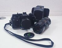 Vintage Zenit 11 Manual Camera and Chinon 85-210 lens with case working