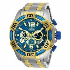 Invicta 25855 Pro Diver Men's 50mm Watch - Yellow Gold/Stainless Steel/Blue