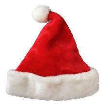 Christmas 2015 Party Santa Hat Velvet Red And White Cap for Santa Claus Costume
