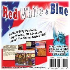 Red, White & Blue -Patriotic Windows PC Game, 4 lessons USA Flag 3D Fun Download