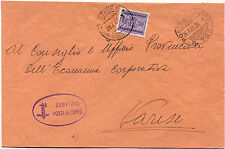 DA SERVIZIO POSTA DA CAMPO N. 795, LUG 1944, A VARESE, SEGNATASSE C50     m