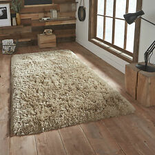 Think Rugs Polar PL 95 Shaggy Hand Tufted Rug Beige W150cm X L230cm