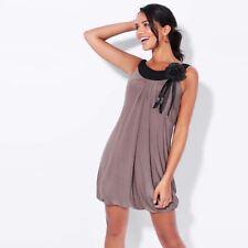 Krisp Womens Fancy Dress Sleeveless Tunic Top Boho Retro 1920s Style Party Mini 18 Mocha
