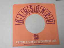 "KIRSHNER RECORDS~ VINTAGE ORIGINAL ~ RECORD COMPANY SLEEVE ~ 7"" SINGLE 45 RPM"