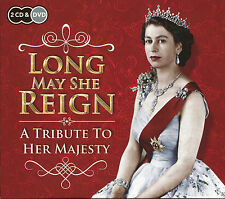 LONG MAY SHE REIGN A TRIBUTE TO HER MAJESTY THE QUEEN 2 CDS & DVD Rule Britannia