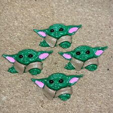 Lot of 4 Baby Yoda Flat Back Resin Embellishments~ *Fast, Free Shipping!