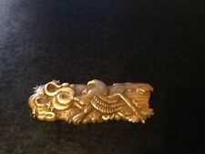 japanese antique gold, silver, bronze tobacco pouch clasp