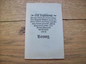 Gunter Mann/Hg EURICIUS CORDUS Der englische Schweiß 1529 *Reprint mit Nachwort*