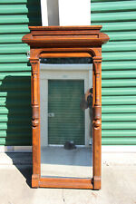 Solid Walnut Victorian Eastlake Aesthetic Pier Mirror Ca.1880