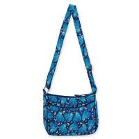 Laurel Burch Indigo Cats Quilted Cotton Small Blue Crossbody Bag Handbag Purse