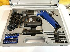 BLUE POINT ETBSL3600 POWER SCREWDRIVER  1 BATTERY CHARGER BITS CASE NEW TESTED