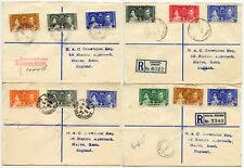 1937 CORONATION FIRST DAY COVERS BWI CROWHURST ENVS...BELIZE BG JAMAICA BAHAMAS