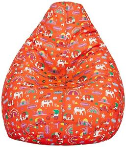 Bean Bag Cover Canvas Printed Quirky Red XXXL Bean Bag Cover Without Beans