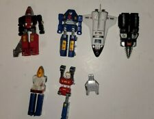 Vintage Lot of 1983 GoBots Space Shuttle MR14,Screw Head MR17, Tank MR2 POPY JPN