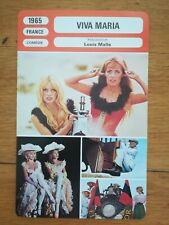 FICHE MONSIEUR CINÉMA Viva Maria 1965 Louis Malle Brigitte Bardot Jeanne Moreau