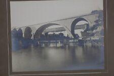 org. Foto  Eisenbahnbrücke von Kempten über die Iller 1905 fertig gebaut